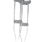 Crutches Underarm Aluminium Adult